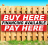 BUY HERE PAY HERE FINANCING AVAILABLE Advertising Vinyl Banner Flag Sign USA