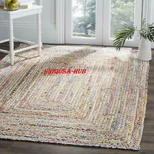 Rug Runner Jute & Cotton Reversible Handmade Braided Style Rug Rustic Look Rug