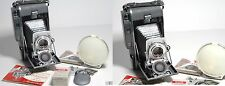 VINTAGE POLAROID LAND CAMERA MODEL 110A Yasrex f4.5/127mm PRONTOR-SVS LENS + EXT