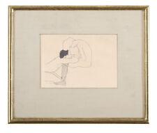 Modern Sketch Drawing Female Male Nude Egon Schiele Avant Garde Austrian Lovers