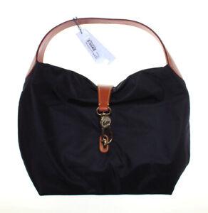 NWT - DOONEY & BOURKE Women's LOGO LOCK FW740 Black SHOULDER BAG - LARGE