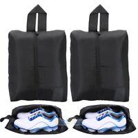 2x Travel Shoe Bags Zip Pouch Storage Organizer Waterproof Bag Shoes Case Box