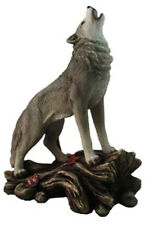 """CALL of the WILDERNESS    Standing Howling Wolf Statue Figurine  H12"""""""