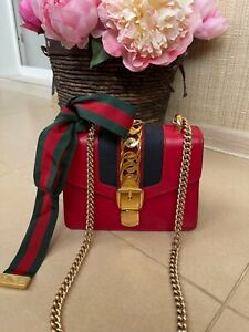 Gucci Sylvie mini red bag