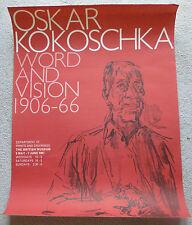 Oskar KOKOSCHKA-Word e Vision 1906-1966 1967 rara arte mostra poster