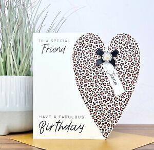 Personalised Handmade Birthday Card Friend, Sister, Mum, Nanny, Auntie, Daughter
