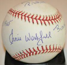 Ernie Westfield Negro Leagues Birmingham Black Barons Signed Stat ML Baseball
