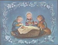 Vintage Tasha Tudor Vintage American Artists Group Christmas Card #E709 Corgi