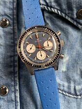 Rare Vintage Airain by Dodane Diver Chronograph Mens Watch Valjoux 72 37,5mm