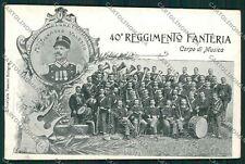 Bologna Militari Fanteria banda musicale cartolina QQ9128