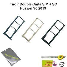 Pour Huawei Y6 2019 Tiroir support Carte Double Sim Micro Sd + Ejecteur