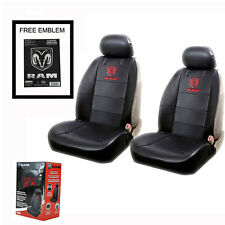 New RAM Head Synthetic Leather Car Truck 2 Front Seat Covers Set Free Sticker