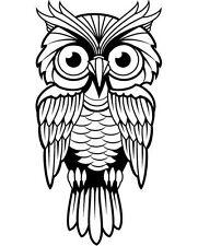 OWL WITH BIG EYES CAR DECAL STICKER