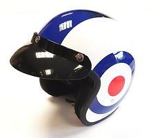 VIPER RS-V06 OPEN FACE SCOOTER MOTORCYCLE RETRO HELMET MOD UK TARGET (NEW STYLE)