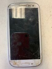 Parts only - Used Samsung Galaxy S3 Smartphone - Cracked Screen- For Parts ONLY