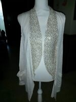 """Bongo Size 3X Tan W/Sequins 2 Pockets Cover Up 30 1/2"""" Long 23"""" Bust"""