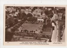 Kings Arms Hotel Castle St Christchurch Bowling Green Aerial RP Postcard 645b