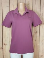 ESPRIT Womens Size Medium Short Sleeve Shirt Collard Lavender Cotton Polo Top