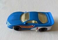 Mattel Hot Wheels 1993 Blue #1 Fast Diecast Toy Race Car
