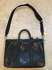 Coach Perry Metropolitan Black Grain Leather Crossbody Briefcase    F59141