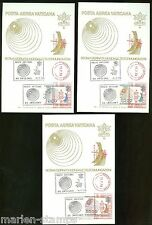VATICAN CITY WORLD TELECOMMUNICATION MAXIMUM CARDS WITH METER  CANCEL  SC#C63/65