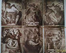 XIX s. lotto 11 foto albumina CAPPELLA SISTINA affreschi MIchelangelo