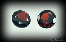 Garnet Gemstone Pair 4.30ct Granat Edelstein Paar Granato Gemma