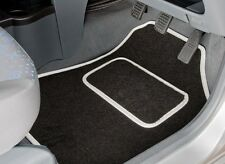 Fiat 500 2008-12 Fully Tailored Deluxe Car Mats in Black with Red Trim.