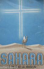 SAHARA LE PAYS & LA MISSION:J.CUSSAC PERE BLANC ALGERIE