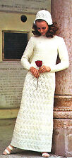 Vintage knitting pattern-how to make a 1960s mod style wedding dress & bonnet