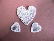 3 piece Adorable  Vintage Venise Lace Heart Set Baby Dolls  Sweaters E38a
