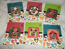 Doggie Hand Made Greeting Card Set of 6