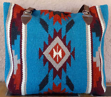 Wool Purse HIPURSE-NG Maya Modern Hand Woven Large Southwestern Laptop Bag Tote