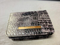 Brahmin Veranda Melbourne MINI Card Wallet with Key Ring Small Bifold ID Holder