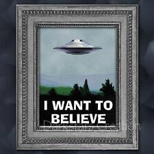 X Files Fan - Moulder Office Poster - UFO - Alien - Flying Saucer Mini-Print