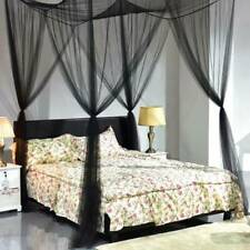 4 Corner Post Bed Canopy Mosquito Net Full Queen King Size Netting Bedding AU