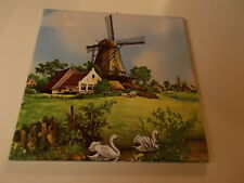 TILE Holland Ter Steege Windmills Dutch, Countryside, Farm Animals