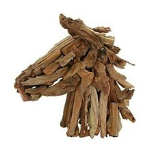 Striking Horse Head Decor Uniquely Sculpted With Driftwood New