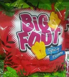60 Jamaican Holiday Snacks Spicy Big Foot  CASE OF 60 Packs x 25g