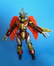 "2002 Bandai UNIDENTIFIED Maroon Gold Silver Orange Winged 8"" Action Figure"