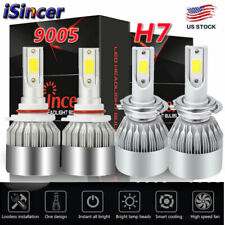 iSincer Combo 9005 H7 110W CREE CAR LED Headlight Sets High Low Beam Bulbs 6000K