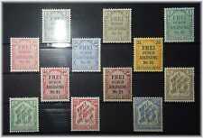 #1 German Empire First Dienstmarken 1-8 + 10-13 (ex 9-14) MLH * from 1903 + 1905