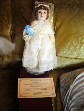 "ANNIE a bride of the gay nineties danbury mint doll 13"" brunet blue eyes f4356"