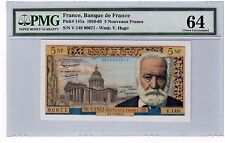 "France 5 Francs Banknote 1965 Pick# 141a PMG Choice UNC 64 ""Nice"""