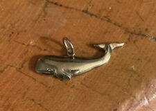 1.25� Pendant Charm Pb 925 Sterling Silver Whale Fish Beach Nautical