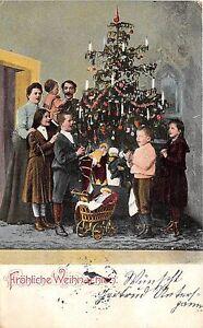 BG14772 family near christmas tree children  weihnachten christmas  germany