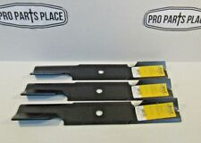 """3 Repl Xht Hd Blades For Hustler 601123 795757 796623 48"""" Deck Fast Trak + Other"""