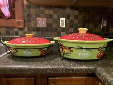 New listing New Temp-tations Bakers W/Lids &Racks Cucina Pattern