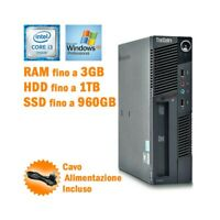PC DESKTOP COMPUTER FISSO LENOVO THINKCENTRE M90 USFF i3 530 WINDOWS XP PRO-