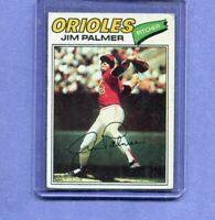JIM PALMER BALTIMORE ORIOLES 1977 TOPPS BASEBALL CARD #600